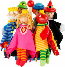 Hand Puppets Cloth Textile Puppet Show Wizard Clown King Prince Dragon Fairytale