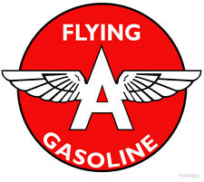 Flying A Gasoline Vintage Logo Embroidered Mens Polo Shirts S-6XL Atlantic ARCO