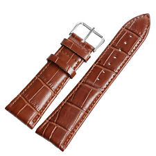 18/20/22/24mm Watchband Embossed Genuine Leather Strap Replacement Men Women