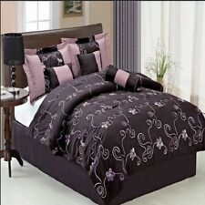 Queen Luxury 7PC Covington Overfille 100% Microfiber Bedding Set Printed Floral