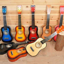 """23"""" Acoustic Guitar With Pick 6 String For Beginners Practice Children Kids Gift"""