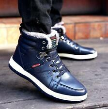 Winter Warm Fur Lined Mens Lace Up Casual Sneakers HighTop Snow Snug Ankle Boots
