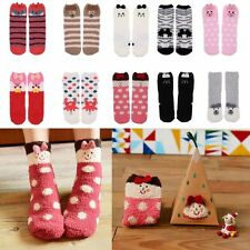 Novetly Animal Coral Fleece Soft Warm Fluffy Slipper Bed Socks with Portable Box