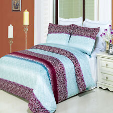 Queen Size 8-PC Kimberly Printed Bedding Set Includes 4-PC White Sheet Set