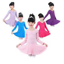 Kid Girls Gymnastics Ballet Dance Dress Party Tutu Skirt Skate Dancewear Costume
