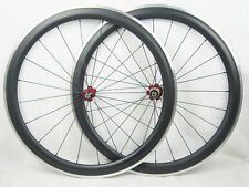 23mm width clincher full carbon fiber wheels alloy brake 700C road bike wheels