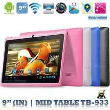 "9"" Google Android4.4 A33 Quad Core 8GB Dual Camera Wifi Tablet PC US Pink"