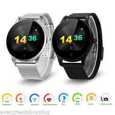 Waterproof Bluetooth Wrist Smart Watch Phone Mate Heart Rate for Android IOS NEW