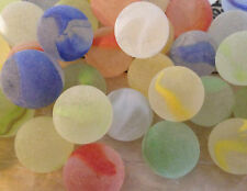 4 x 22mm Frosted rainbow Glass Marbles Collectors or game solitair pick color