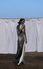 H&M Conscious Exclusive Collection Silk Hemp Print Long Dress UK 8 10 LAST ONE!
