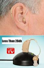 @New Rechargeable Hearing Aids Personal Sound Voice Amplifier Behind The Ear@QR