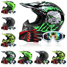 Fantastic Outdoor Adult Motorcycle Off-road Racing Helmets+Goggles+Gloves FS945