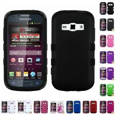 For Samsung Galaxy Prevail 2 M840 Ring Hybrid TUFF IMPACT Phone Case Hard Cover