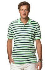 Chaps Polo Lime Green Striped Pique Polo Shirt Men's sizes M  L XL   New $45