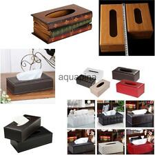 Leather Car Tissue Box Cover Napkin Paper Holder Towel Dispenser Decoration Gift