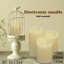 3X LED Candles Battery Operated As Wax Flickering Pillar Flameless Unscented