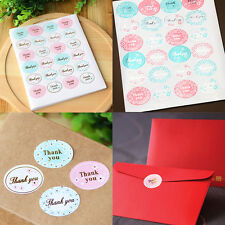 """5 Sheets 120PCS Oval """"Thank You"""" Adhesive Seal Sticker Label Envelope Decor Gift"""