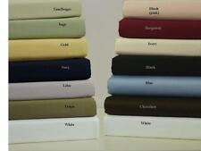Queen Size Luxury 450TC 100% Combed Cotton Attached Waterbed Solid Sheet