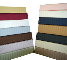 King/Cal-King Size Luxury 300TC 100% Cotton Attached Soft Striped Waterbed Sheet