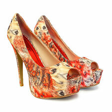 NEW WOMENS PARTY PLATFORM PUMPS KILLER HIGH HEELS STILETTO COURT SHOES SIZE 3-8