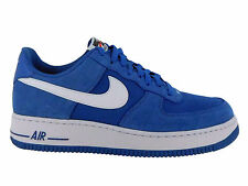 NEW MENS NIKE AIR FORCE 1 LOW BASKETBALL SHOES TRAINERS STAR BLUE / WHITE