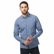 Maine New England Mens Blue Button Down Check Print Shirt From Debenhams
