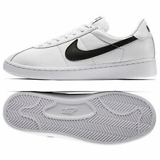 Nike Bruin QS Leather '70s 842956-101 White/Black Swoosh Men's Shoes