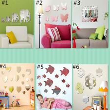 Mirror Sticker Art Design Decal Wall Stickers Home Decor Door Room Decoration