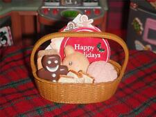 Rement Christmas Basket Goodies Breads Gingerbread fits Loving Family Dollhouse