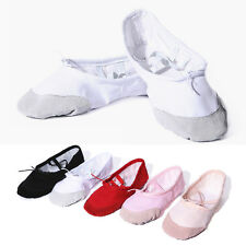 Baby Girl Kid Gymnastic Ballet Canvas Dance Shoes Soft Sole Toddler Flat Slipper