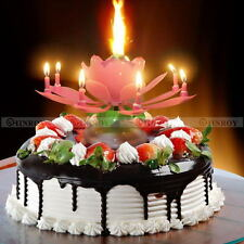 Birthday Candles Lotus Flower Amazing Musical Exciting Birthday Candle