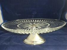 Crystal Silverplated Pedestal Platter Dessert Cake Made in Western Germany