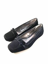 Anne Klein Justain Suede Leather Square Toe Low Heel Loafers Choose Sz/Color