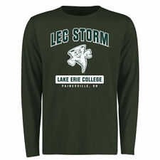Lake Erie College Storm Green Campus Icon Long Sleeve T-Shirt - College