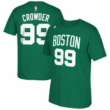 adidas Jae Crowder Boston Celtics Kelly Green Net Number T-Shirt - NBA