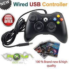 Black BRAND NEW USB WIRED CONTROLLER FOR MICROSOFT XBOX 360 PC WINDOWS