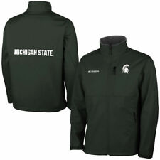Columbia Michigan State Spartans Green Ascender Bonded Softshell Jacket