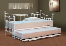 Versailles French Metal Day Bed With FREE Guest Pull Out Trundle Black  OR White