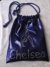 PERSONALISED GYMNASTIC HANDGUARD  SMALL  BAG SHINE FABRIC TO MATCH LEOTARDS