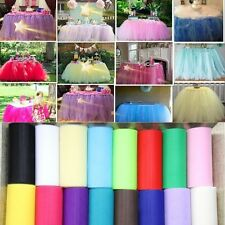 "6""x 25yd Tulle Roll Spool Tutu Wedding Party Gift Fabric Craft Decoration Newly"