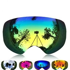 Ski Glasses Lens UV400 Snowboard Skiing Women Men Snow Winter Eyewear Goggles