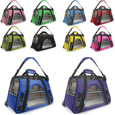 Pet Carrier Soft Sided Small Cat / Dog Comfort Black Travel Bag Airline Approved