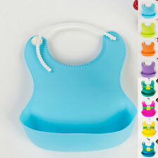 Infant Waterproof Silicone Feeding Lunch Bibs Saliva Unisex Kids Baby Aprons New