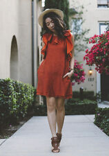 H&M Conscious Exclusive Collection Ruffle Orange Dress UK 8 10 12 14 16 Bloggers