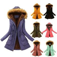 Cotton Hooded Women's Long Jacket Warm Winter Warm Parka Coat Overcoat Outwear