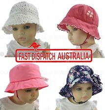 Toddler Girl Baby Cotton Floral Flower Outdoor  Bell Bucket Sun Hat Chin Strap