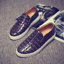 chic mens casual Pattern vogue slip on loafer sneaker driving Breathable shoes