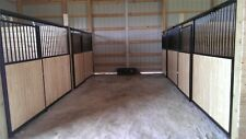 Basic Horse Stall Front includes Door, Track, Wood and Hardware.