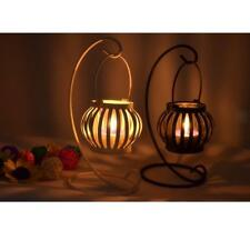 Iron Pumpkin Candle Holder Tea Light Lantern Vintage Home Decor Round Luminary