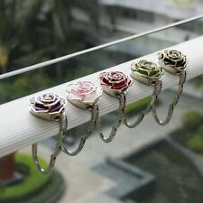New Rose Flower Folding Purse Handbag Bag Accessories Table Hook Hanger Holder
